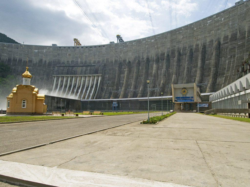 Мощнейшая гидроэлектростанция России  – Саяно-Шушенская ГЭС