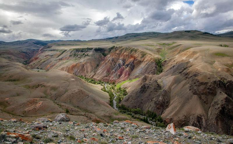 Марсианские пейзажи в Сибири – урочище Кызыл-Чин